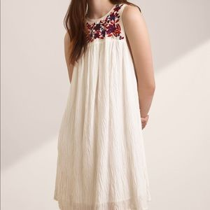 Aritzia Wilfred Allier White Embroidered Dress